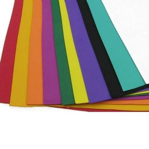 EVA материал /микропореста гума/ 1 мм 20х27 см АСОРТЕ цветове -10 листа