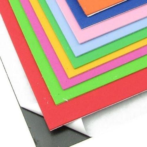 EVA материал /микропореста гума/ 2 мм А4 20x30 см самозалепващ АСОРТЕ цветове -10 листа