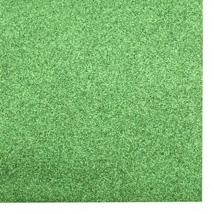 EVA материал /микропореста гума/ 2 мм А4 20х30 см с брокат зелен светло