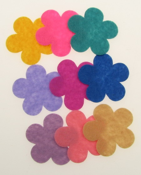 Цвете филц 34x1 мм микс цветове -10 броя