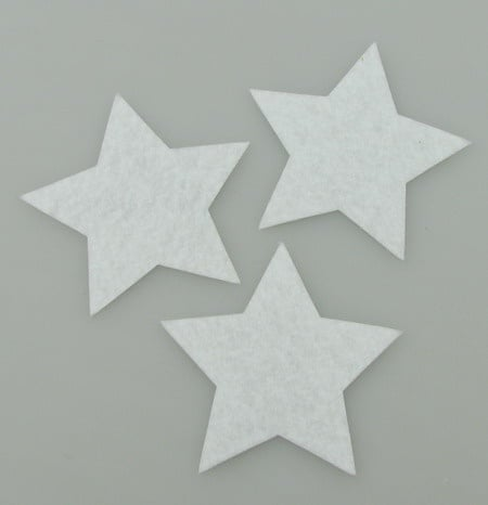 Звезда филц 60x1 мм бяла -5 бр