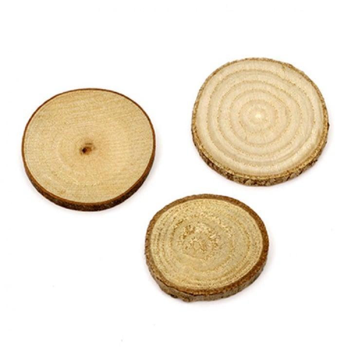 Шайба дървена 30~40 мм -10 броя