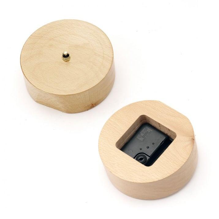 Основа за часовник дървена 120 мм