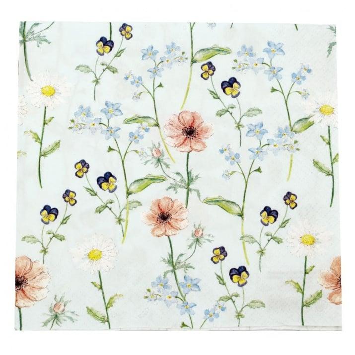 Салфетка HOME FASHION 33x33см трипластова Little Garden -1 брой