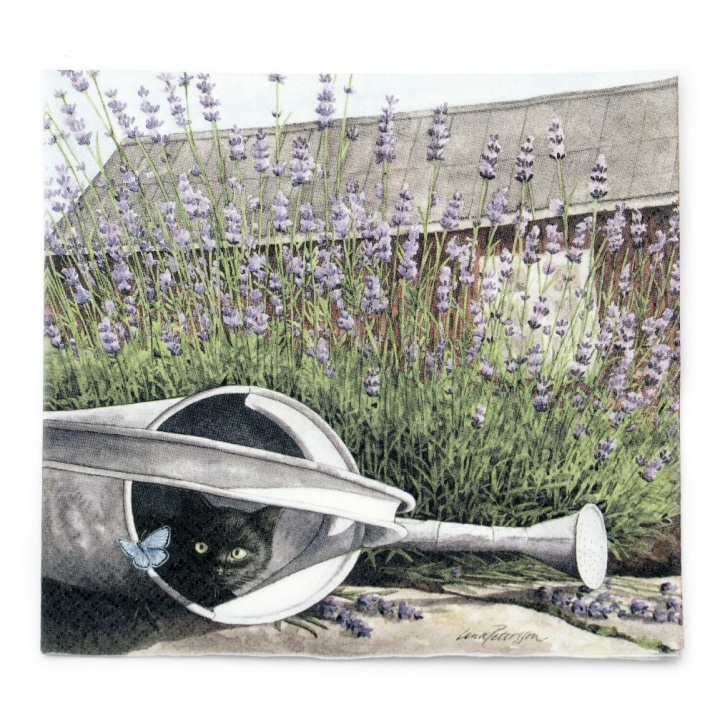 Салфетка HOME FASHION 33x33 см трипластова Cat and Lavender -1 брой