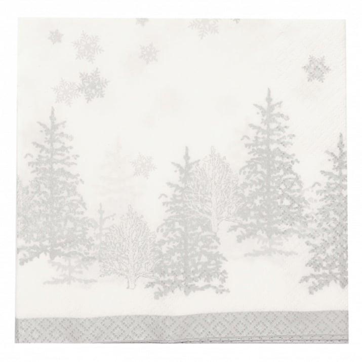 Салфетка HOME FASHION 33x33см трипластова Trees and Snowflakes -1 брой