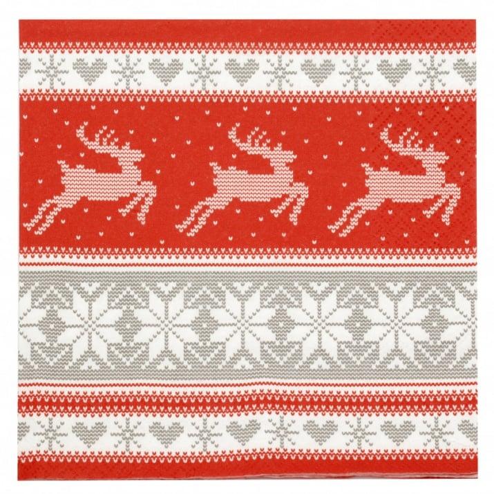 Салфетка ti-flair 33x33см трипластова Nordic Knitting -1 брой