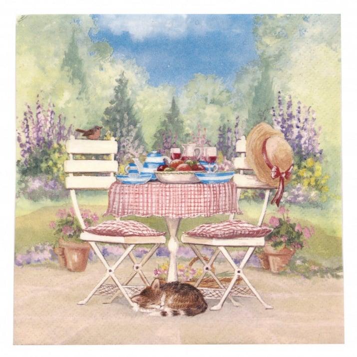 Салфетка ti-flair 33x33см трипластова Lunch on Garden Table -1 брой