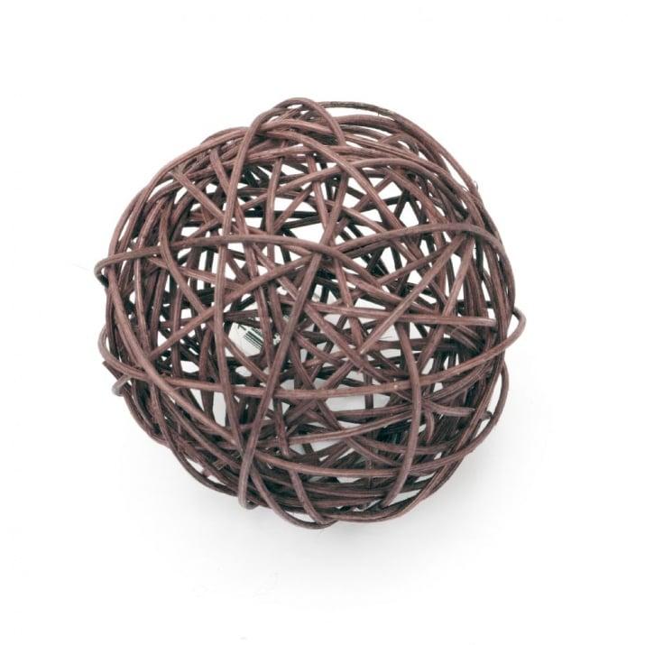 Ратанова топка 100 мм бордо тъмно