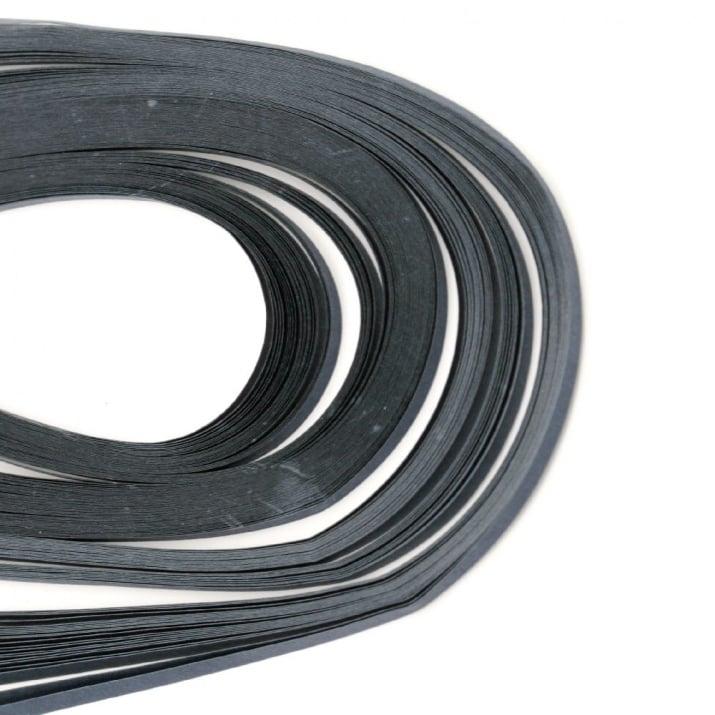 Ленти за квилинг (хартия 80 гр) 3мм/39см - тъмно синя - 120бр