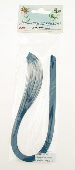 Ленти за квилинг перлени (хартия 120 гр) 2 мм/ 35 см Fabriano, Curacao, цвят тюркоаз -50 бр.