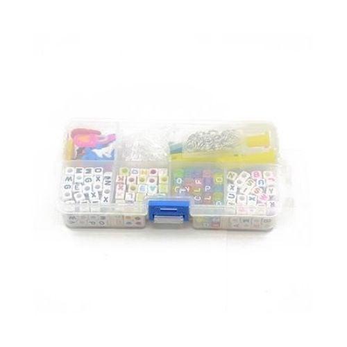 Комплект мъниста и инструменти за направа на бижута - кутия 14x7.2x3 см
