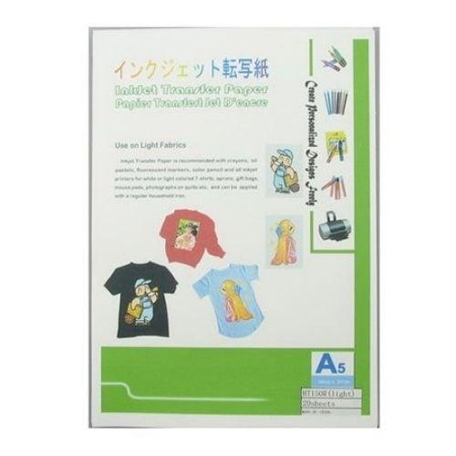 Трансферна хартия InkJet за тениски /за светли тъкани/ А5 15 x 210 см -1 бр