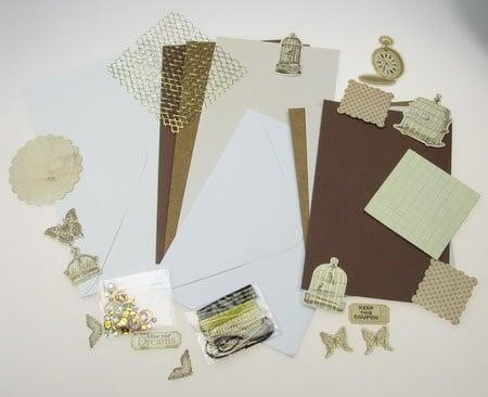 Комплект за направа на 6 броя картички 3 -11.5x17 см и 3 -11.5x21 см