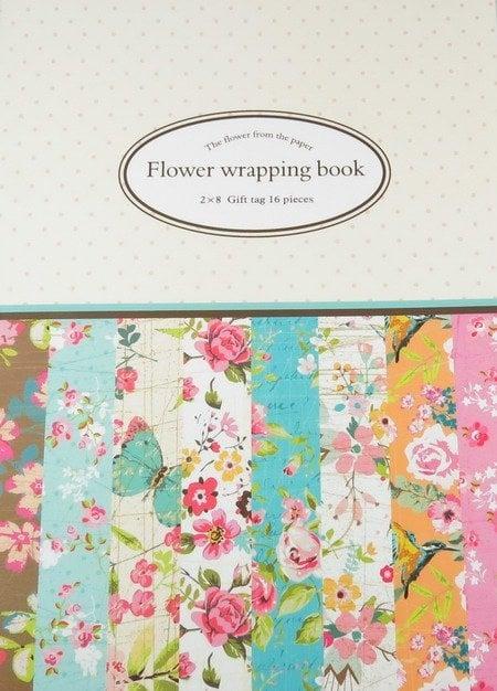 Дизайнерска хартия за скрапбукинг книга (22.5x30.4 см) 8 дизайна x 2 листa (30.5x45 см)