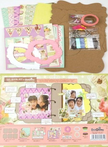 Комплект за направа и декорация на албум 6 листа Memories