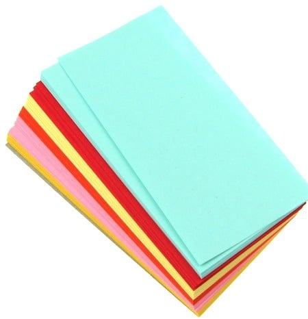 Кубче цветни листи 9x4.50 см 6 цвята за декорация и оригами ~120броя