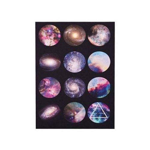 Лист хартия незалепващ за основа на кабошон 25 мм 12 броя галактика