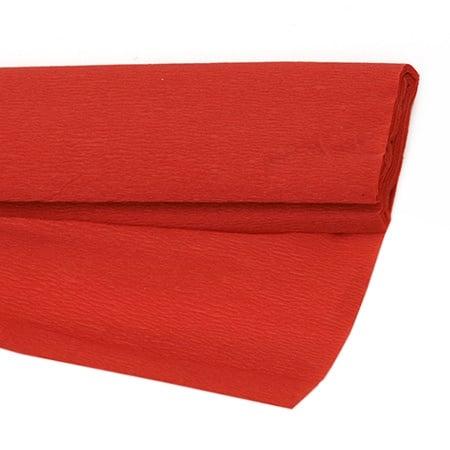 Креп хартия фина 50x200 см червена