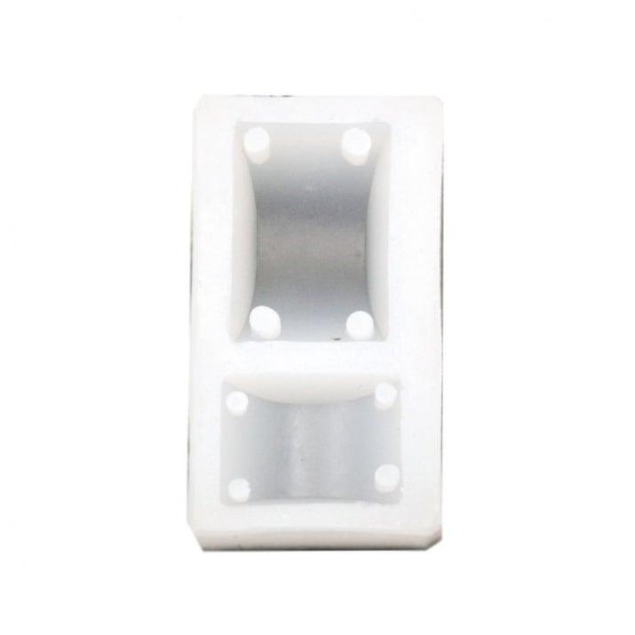 Силиконов молд /форма/ 48x27x11 мм мъниста свързващ елемент 2 размера