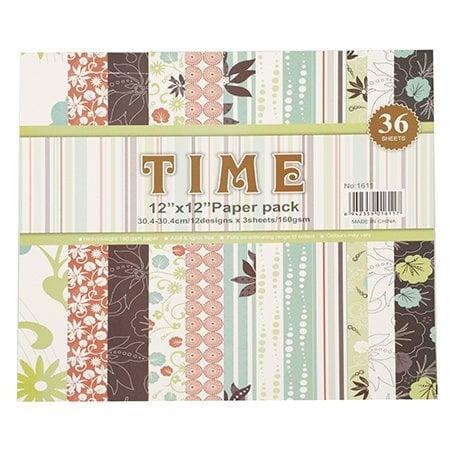 Дизайнерска хартия за скрапбукинг 12 inch (30.4x30.4 см) 12 дизайна x 3 листа