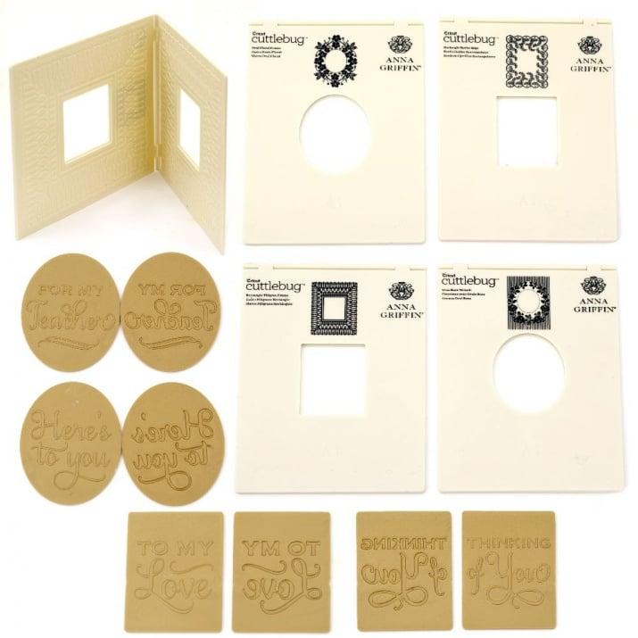 Комплект папки за релеф 13.8x19 см -4 дизайна с 12 сменяеми надписа