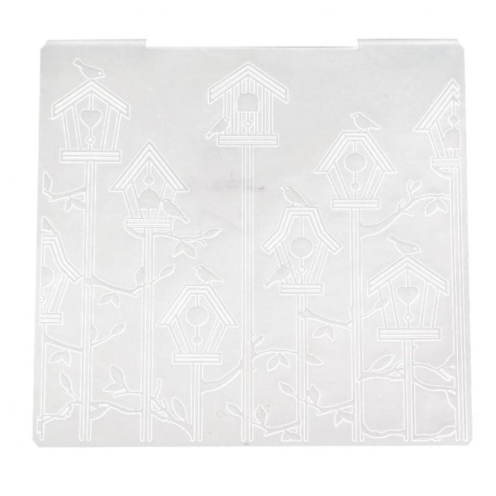 Папка за релеф 15.2x15.2 см -къщи за птици