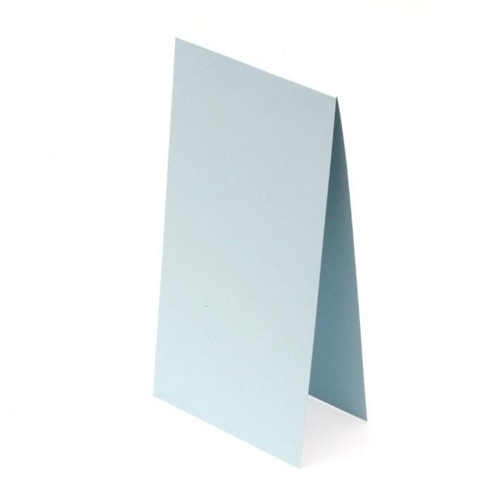 Основа за картичка 10x20 см хоризонтална цвят син светло -10 броя