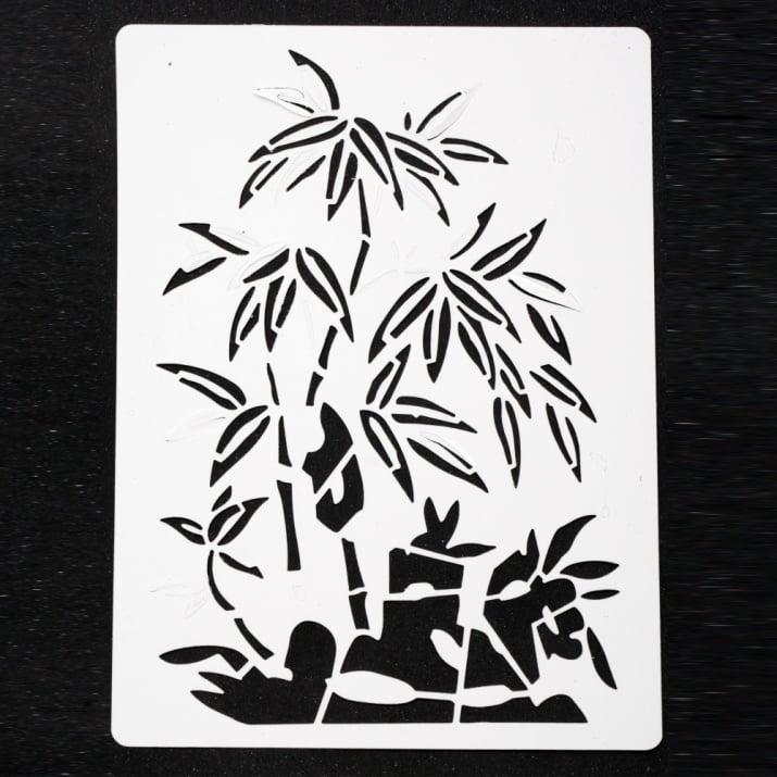 Шаблон за изрязване и рисуване 15x21 мм дърво