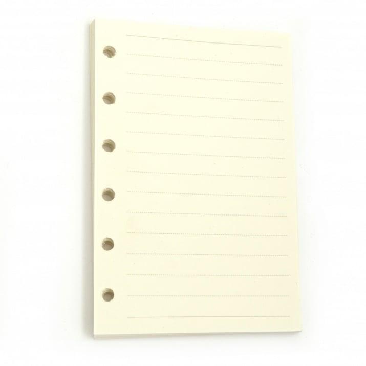 Резервни страници за албум или тефтер 45 броя 82x123см бели на редове