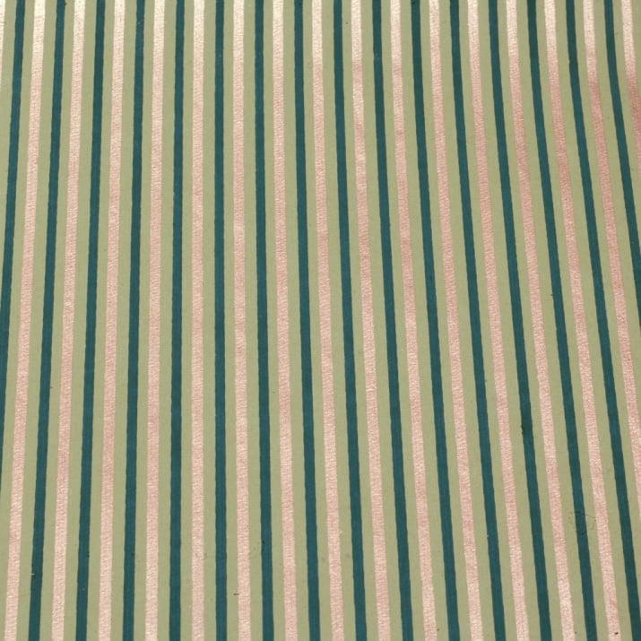Дизайнерска индийска хартия 120 гр120 гр за скрапбукинг, арт и крафт 56x76 см Green and Gold HP02
