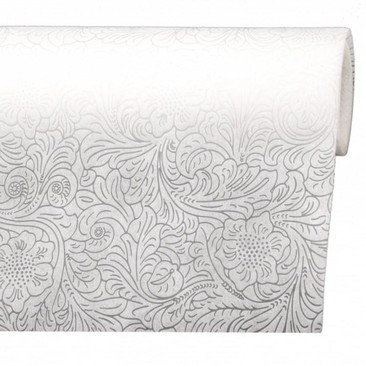 Текстилна хартия 53x450 см цвят бял