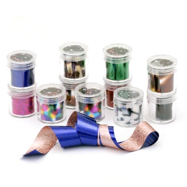 Фолио за декорация в бруканче 31x33 мм различни цветове