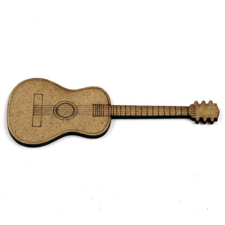 Фигурка кафява МДФ за декорация китара 100x40x2 мм