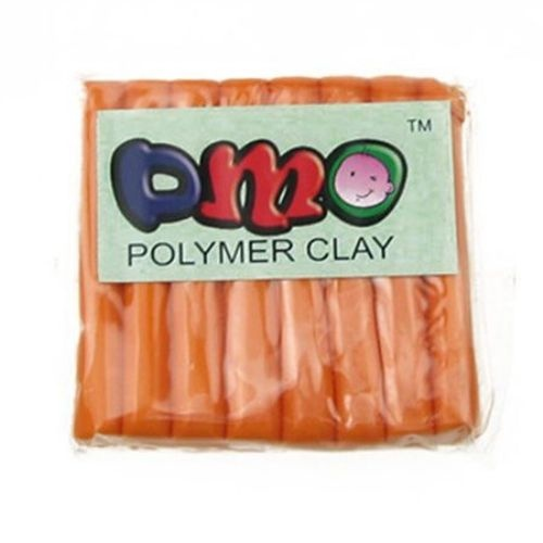 Полимерна глина оранжева - 50 грама