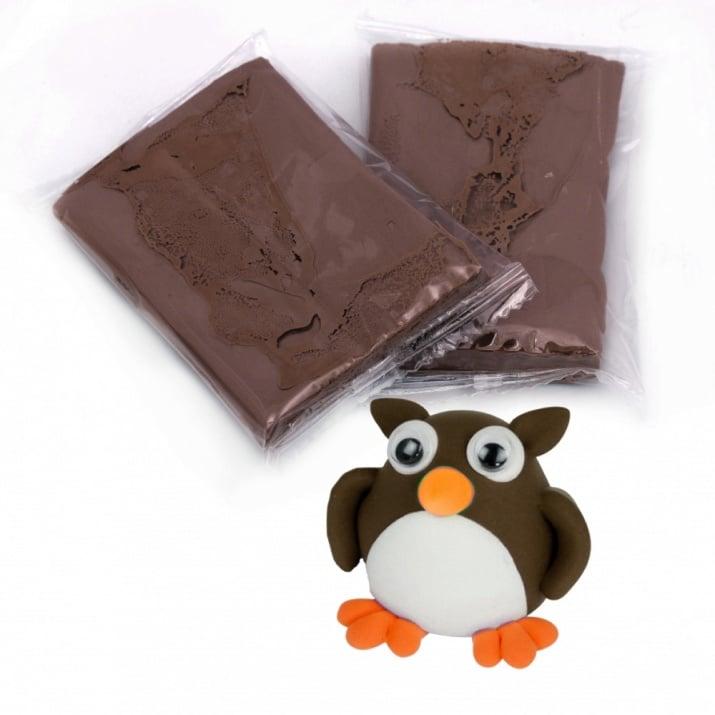 Самосъхнещ моделин цвят кафяв тъмно -14~15 грама