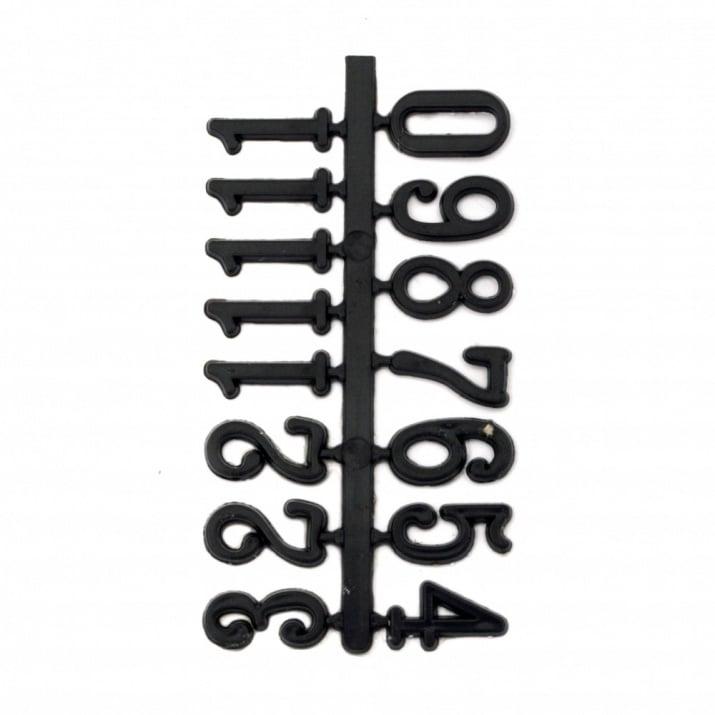 Комплект цифри за часовник самозалепващи 16 мм арабски - черни