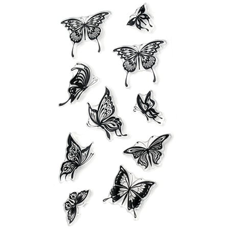 Силиконов печат 11x20 см пеперуди