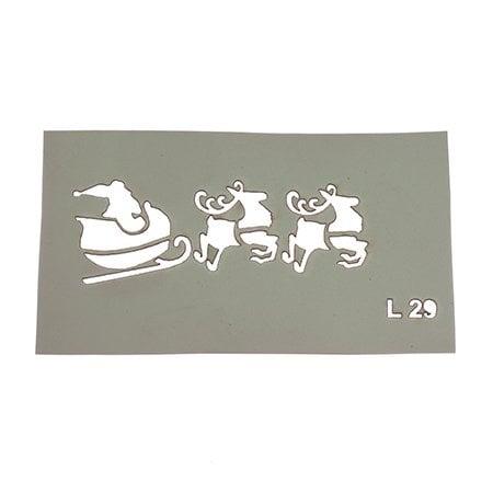 Шаблон за многократна употреба размер на отпечатъка 7,5x3 см Л29