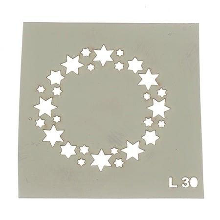 Шаблон за многократна употреба размер на отпечатъка 6x6 см Л30