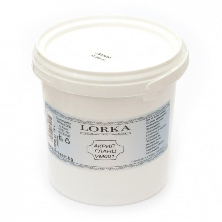 Акрилна боя гланц 1.0 кг -бяла