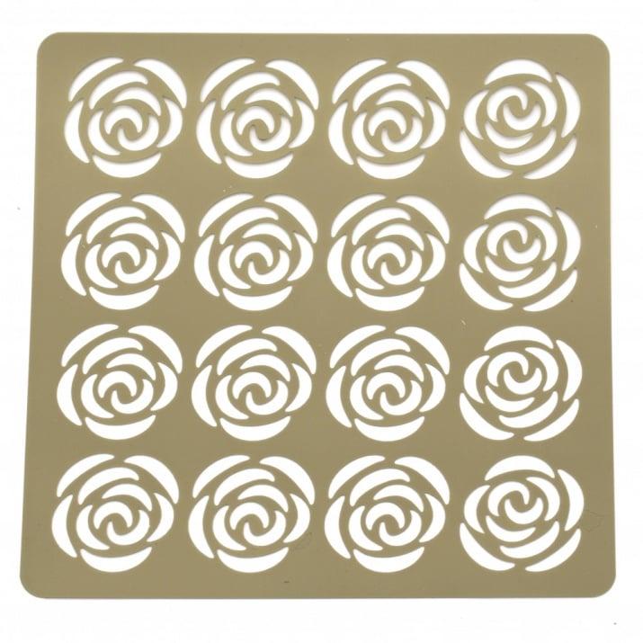 Шаблон за релеф и Mix media 20х20 мм рози