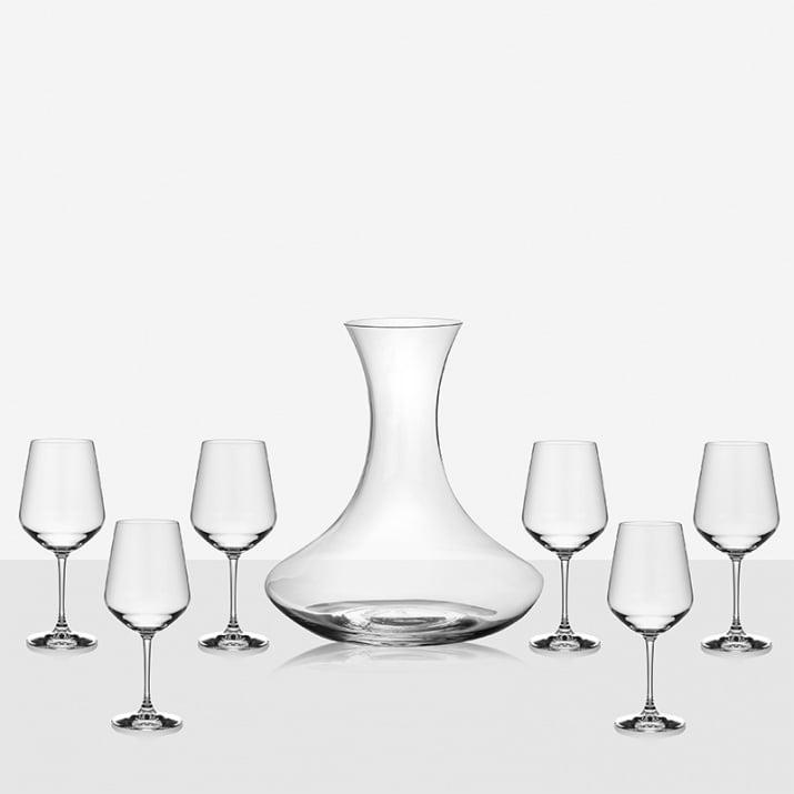 Декантер с 6 чаши за вино  Universum
