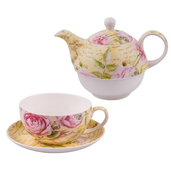 Роза 56 чаша и чайник