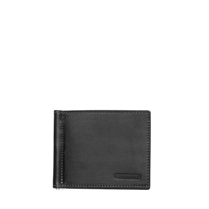 Черен картодържател с щипка за пари CHIARUGI