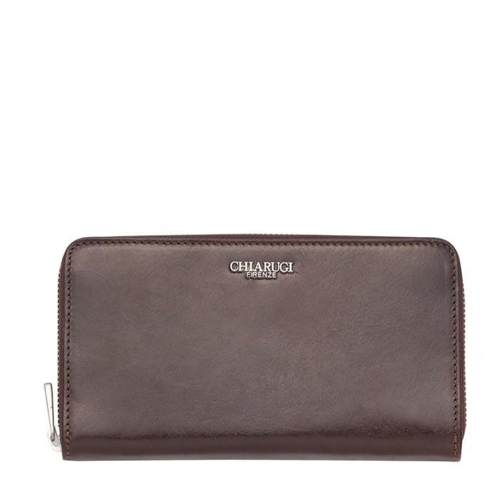 Тъмно кафяво портмоне с цип CHIARUGI