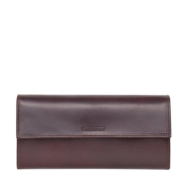 Тъмно кафяво портмоне от естествена кожа CHIARUGI