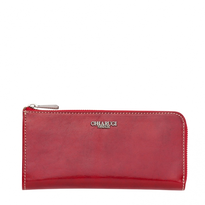 Червено портмоне с цип CHIARUGI