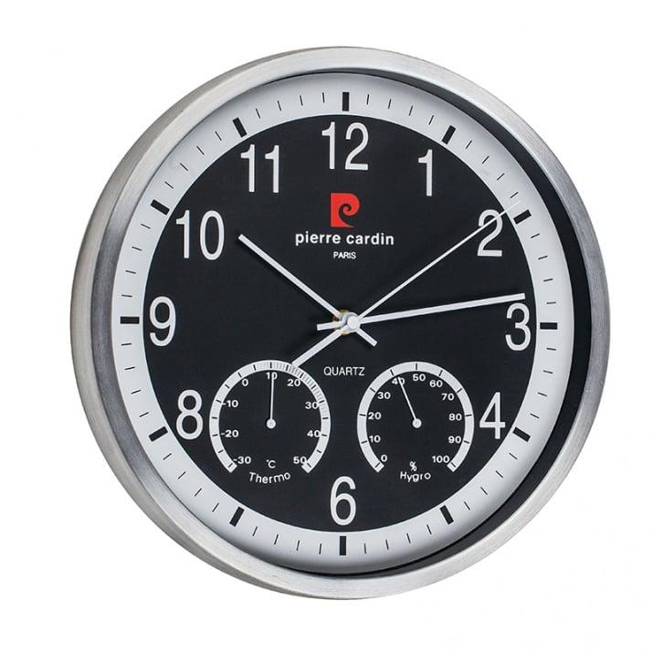 Стенен часовник Pierre Cardin - черен