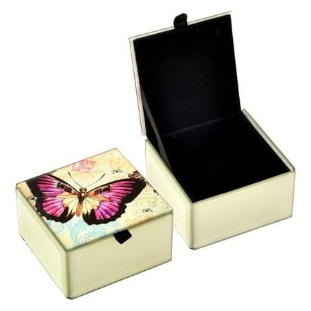 Кутия за бижута лилава пеперуда
